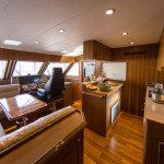 Pilothouse and galley